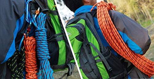 登山ロープ、安全耐久ロープ、トレーニングのためのジムクライミングロープ、フィットネス、筋力強化、戦い、運動、余分な厚い12mm,Blue,80m