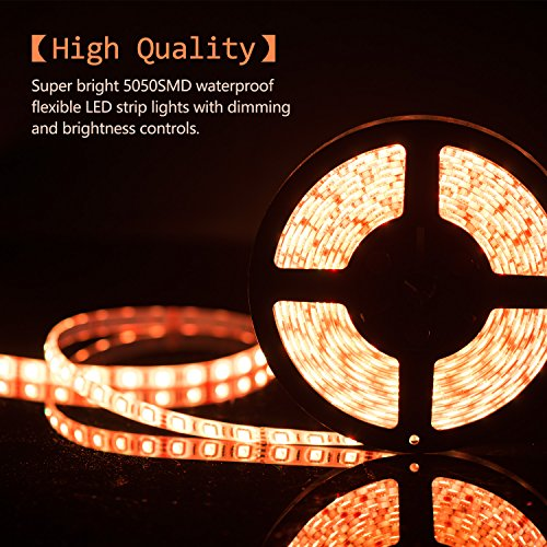 Boomile bl600 164ft led strip lights smd 5050 300leds waterproof boomile bl600 164ft led strip lights smd 5050 300leds waterproof rgb light strips color changing flexible led light strip kit dc 12v power adapter 44key aloadofball Images