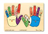 Melissa & Doug Hands Counting Wooden Peg Puzzle (12 pcs)