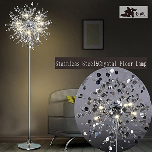 GDNS 24W Warm LED Imitate Crystal Floor Lamp,19.519.571 Inch LWH by GDNS (Image #9)