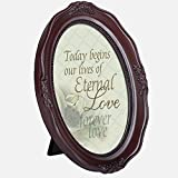 oval frames - Today Begins Our Forever Love 6 x 8 Mahogany Finish Oval Shaped Picture Frame