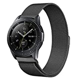 Koreda Compatible Samsung Galaxy Watch (42mm) Bands,20mm Milanese Strap Replacement Band Compatible Samsung Galaxy Watch SM-R810/SM-R815 /Gear Sport/Suunto 3 Fitness Smart Watch (Black, 20MM)
