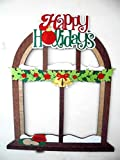Frame Happy Holidays christmas Party elabored whit mdf and glitter foamy 23 1/2 x28 1/2 inches