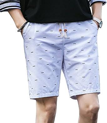 Pantalones Cortos de algodón Sueltos para Hombre, Pantalones ...