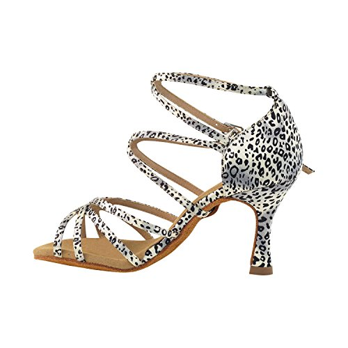 50 Shades Of Animal Print Dance Dress Shoes Collection, Wedding Pumps: Women Comfort Ballroom Shoes For Latin, Tango, Salsa, Swing, Theather Art by Party Party (2.5, 3 & 3.5 Heels) Sera5008 Snow Leopard