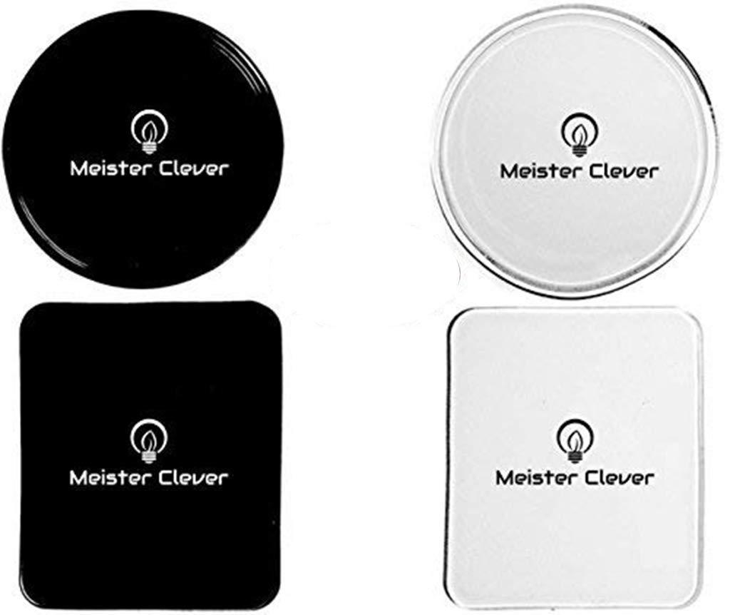 tablet cellulare tappetino antiscivolo per smartphone Tenuta Perfetta grazie alla nanotecnologia Set di 4 cuscinetti in gel con funzione antiscivolo forte colla adesiva Meister Clever