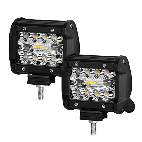 7-Inch-LED-Pods-Light-2-Pcs-240W-Spot-Flood-Combo-Beam-25000LM-Triple-Row-Light-Bar-Waterproof-Led-Work-LightsWiring-Harness-Kit-for-ATV-UTV-Truck-Boat-4X4-Off-Road-Fog-Driving-Bumper-Light