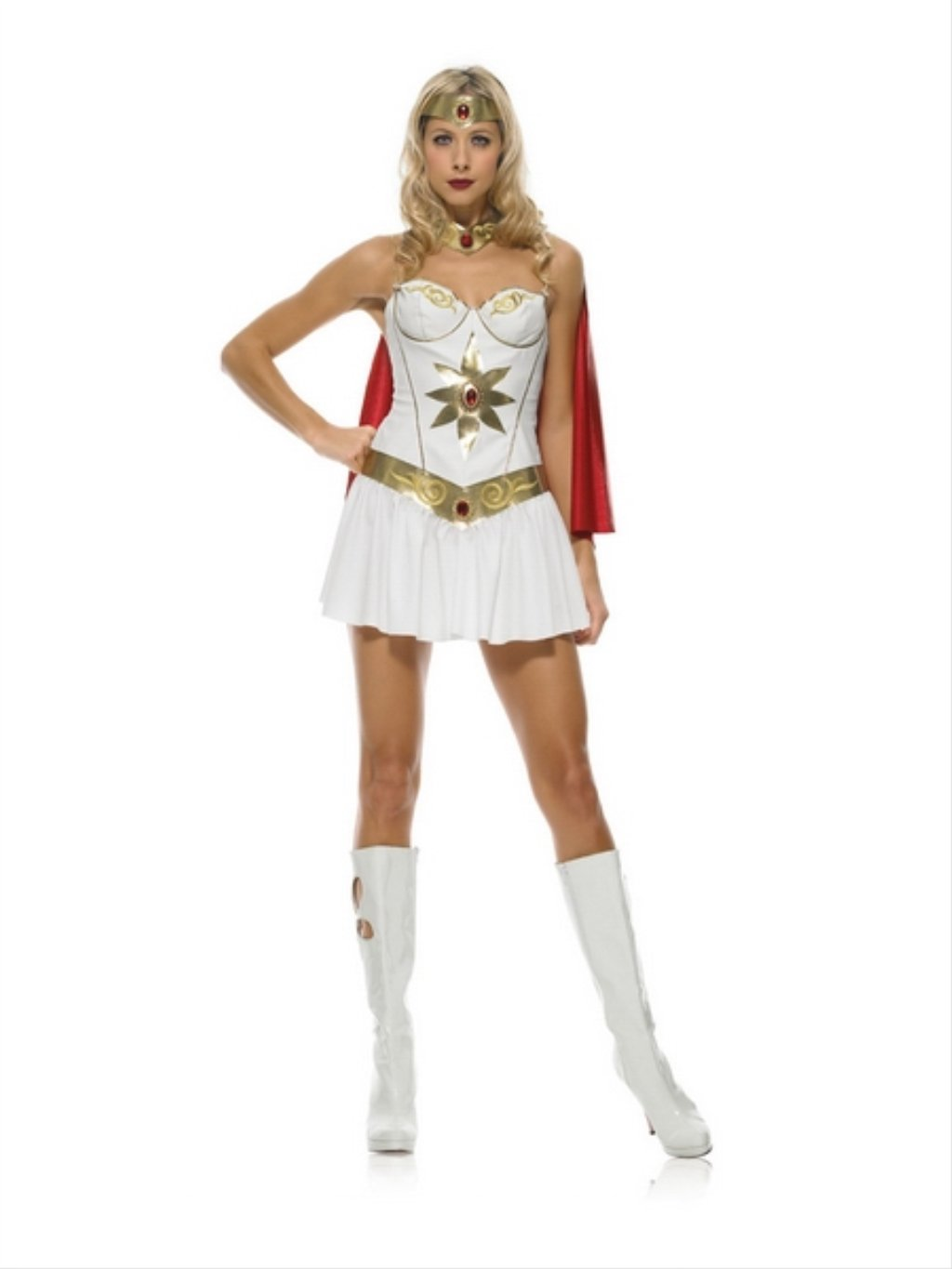 Leg Avenue 83424 - Super Woman Disfraz - Color Blanco/Oro: Amazon ...