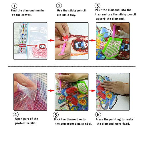 5D Full Drill Diamond Painting Kits by Numbers for Adults and Beginners Flag and Eagle Diamond Wall Art Craft Paint with Round Diamonds for Home Wall Decor Gift for Friends and Family 17.7x13.8In