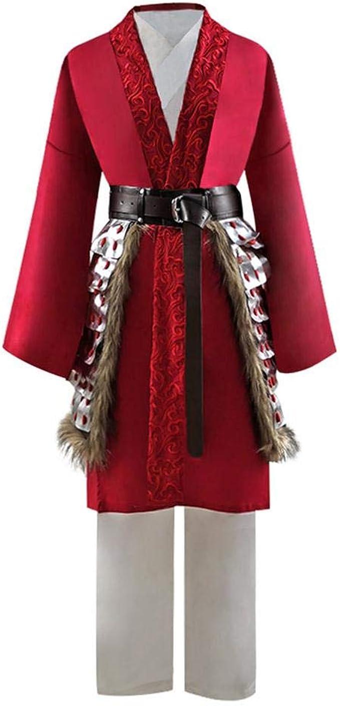 Amazon Com 2020 Women S Mulan Costume Chinese Warrior Costume Cosplay Xxxl Red Clothing
