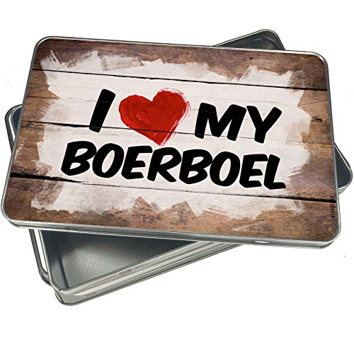 NEONBLOND Cookie Box I Love my Boerboel Dog from South Africa Christmas Metal Container