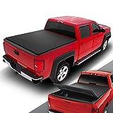 DNA MOTORING TTC-TRISOFT-030 Pickup Truck Rear Trunk Bed Soft Tri-Fold Adjustable Tonneau Cover