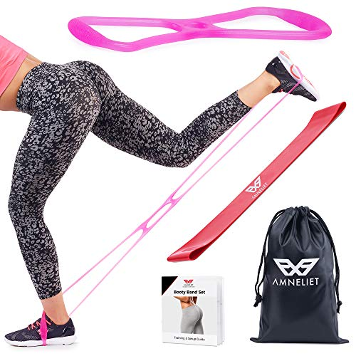 Best Booty Bands & Resistance Bands by Amneliet | Workout Bands with Instruction Guide,Carry Bag,E-book and Online Workout Videos- Tone Legs and Glutes at Home & Gym.