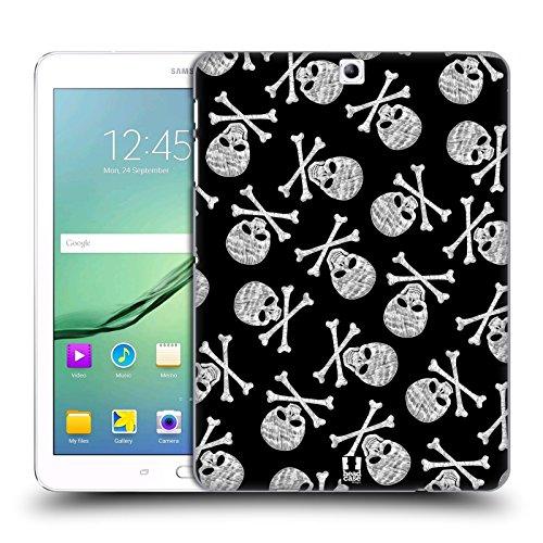 Head Case Designs Black Background X Bone Skulls Patterns Hard Back Case for Samsung Galaxy Tab S2 9.7
