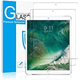 """iPad Pro 10.5 inch Screen Protector Glass (2-Pack), Daker Tempered Glass Screen Protector for Apple iPad Pro 10.5"""" 2017 Case Friendly Apple Pencil Compatible [9H] [Bubble-Free] 2.5D Round Edge 2 Pack"""