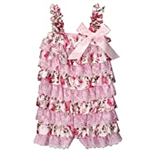 Baby Girl Lace Petti Ruffle Rompers Newborn Infant One-Piece Jumpsuit
