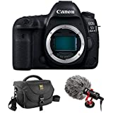 Canon EOS 5D Mark IV DSLR Camera (Body Only) with Boya BY-MM1 Shotgun Video Microphone and Journey 34 DSLR Shoulder Bag
