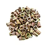 uxcell 60pcs 5/16-18 Zinc Plated Steel Flat Head Rivet Nut Insert Nutsert for Car