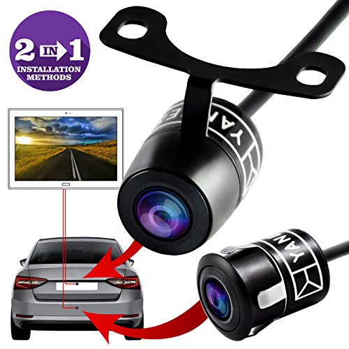 Backup Camera - Rear View Camera - High Definition - Wide Viewing Angle - Waterproof Backup System - Universal Camera - Color CMOS - 2 In 1 Instalation Option - Reverse Parking System by Yanees