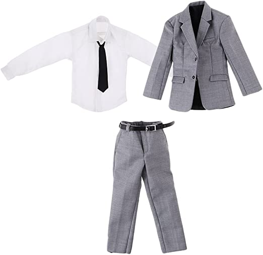 Amazon.es: B Blesiya 1: 6 Traje de Negocio Color Gris con Camisa ...
