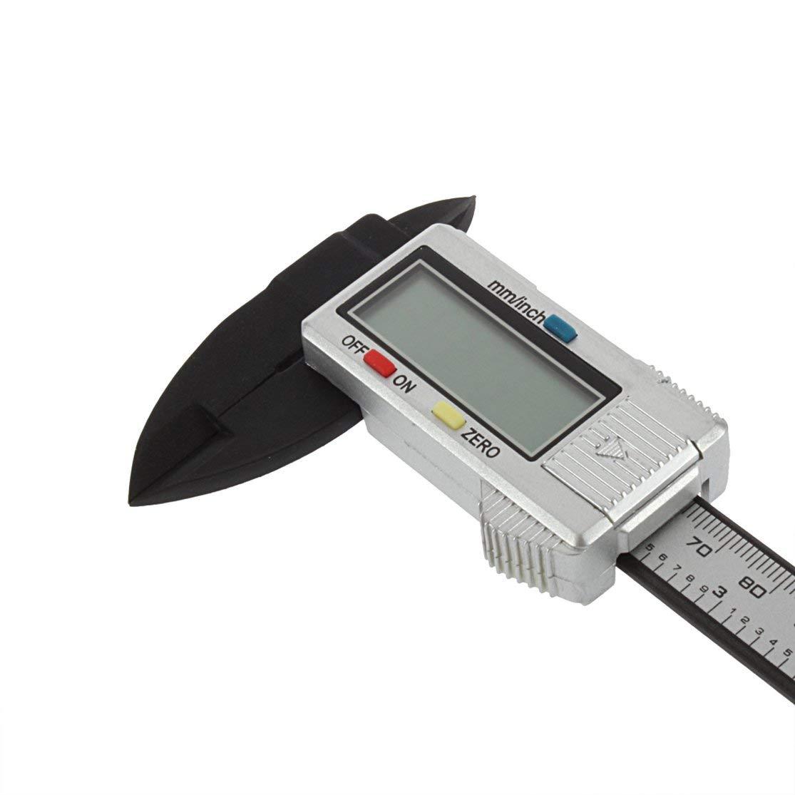 LouiseEvel215 6 Inch Carbon Fiber Composite Electronic Digital Vernier Caliper Rule Durable Micrometer Universal Measuring Tool