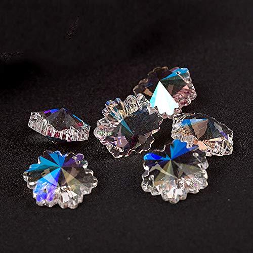(BCQLI DIY Crystal Lamp Accessories, 1.2INCH Snowflake Shape Glass Beads,10PCS)