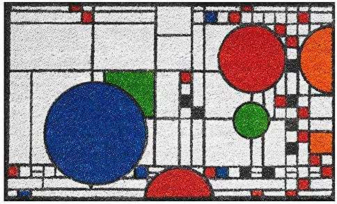 Frank Lloyd Wright Colored Coonley Playhouse Doormat