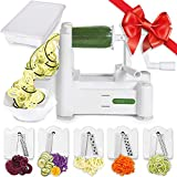 Spiralizer 5-Blade Vegetable Slicer, Strongest-and-Heaviest, Best...