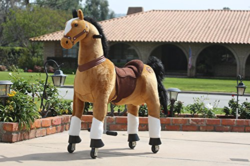 (Medallion - My Pony Ride On Real Walking Horse for Children 5 to 12 Years Old or Up to 110 Pounds (Color MEDIUM BROWN HORSE) For Boys and Girls)
