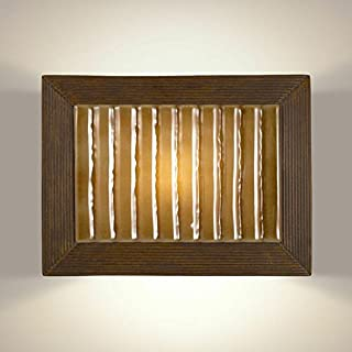 product image for A19 Ripple Wall Sconce, 4-Inch by 15.75-Inch by 11.75-Inch, Butternut/Caramel
