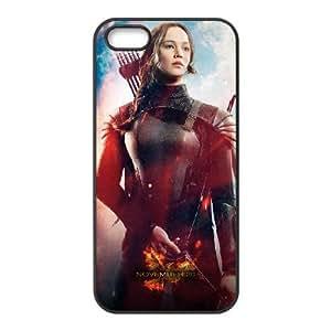 JiHuaiGu (TM) iPhone 4 4S Funda negros los juegos dhambre tema personalizado iPhone 4 4s Funda DJ9128