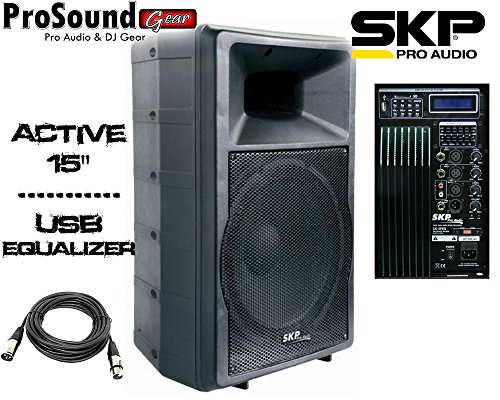 SKP Pro Audio SK-5PEQ - Bi Amplified Active Speaker - Powered PA/DJ 15