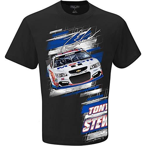 Checkered Flag 2016 NASCAR Tony Stewart #14 Mobil One Slingshot Adult T-Shirt (2X)