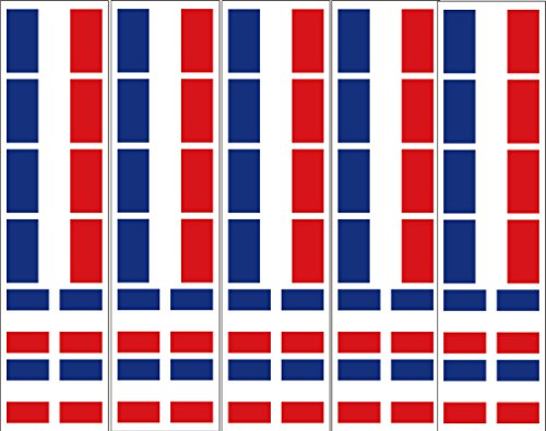 40 Removable Stickers: French Flag, France Party Favors, Decals (French Flag Sticker)