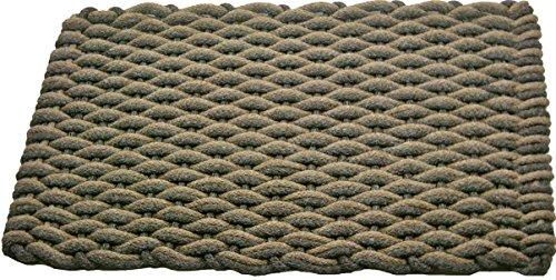 Texas Rope Doormats 2438156 Indoor and Outdoor Doormats, 24 by 38-Inch, Tan/Brown Wave with Brown Insert