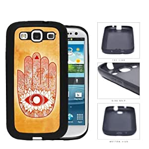 Hamsa Hands Solid Background Series Hard Rubber Cell Phone Case Cover Samsung Galaxy S3 I9300 (orange)
