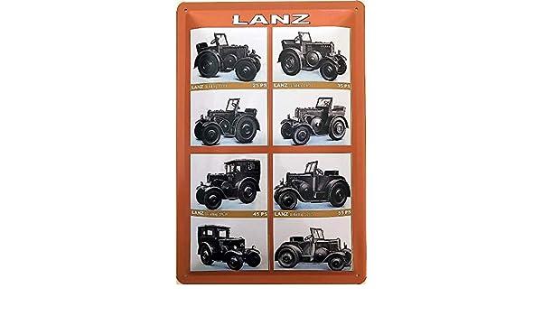 Deko7 - Cartel de Chapa (30 x 20 cm), diseño de Tractor ...