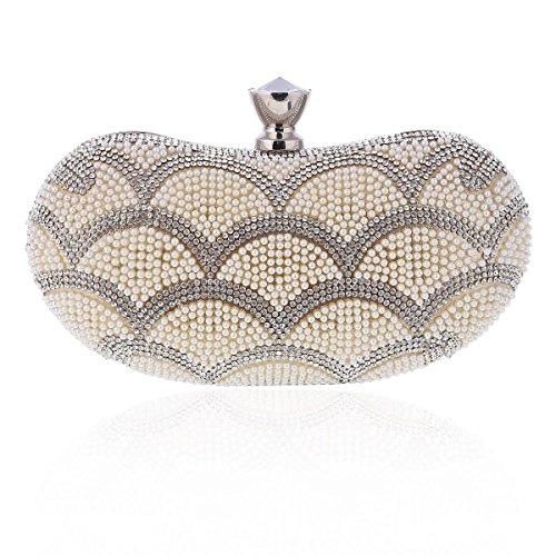 Gold Minaudiere Evening Bag Crystal Women's Clutch Fashion Damara 0qwRHt