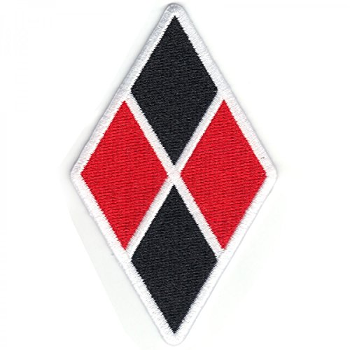 DC Comics Batman Harley Quinn Diamond 2'x3.5' Logo Sew Ironed On Badge Embroidery Applique Patch