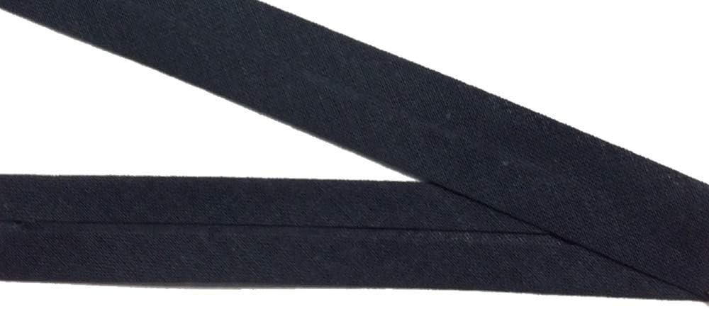 Gro/ßhandel f/ür Schneiderbedarf 30 m Baumwollschr/ägband schwarz 20 mm vorgefalzt