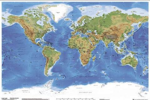 Posters maps poster physical world map in english 36 x 24 posters maps poster physical world map in english 36 x 24 inches gumiabroncs Image collections
