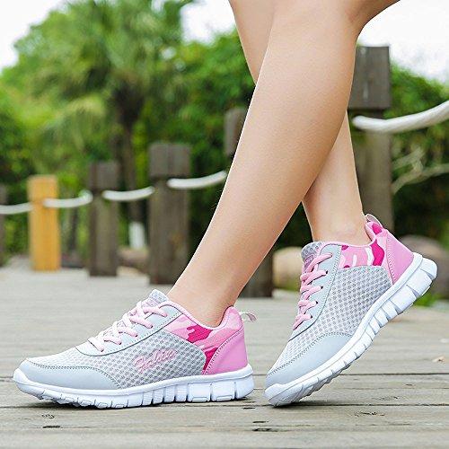 Sportschuhe Damen Wohnungen Mode Freizeitschuhe Schuh Outdoor Wanderschuhe Sneaker Damen Rosa Schuhe Sportschuhe Julywe Turnschuhe dwq0t7d