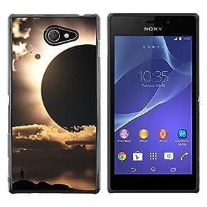 Be Good Phone Accessory // Dura Cáscara cubierta Protectora Caso Carcasa Funda de Protección para Sony Xperia M2 // Sun Planets Sci-Fi Space Earth