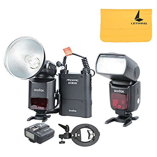 Godox Witstro AD360II-N TTL Powerful Flash Speedlite + PB960 Battery Pack + X1N Wireless Transmitter + TT685N Camera Flash + S-type Bracket for Nikon DSLR Camera (AD360II-N Black Kit 1)