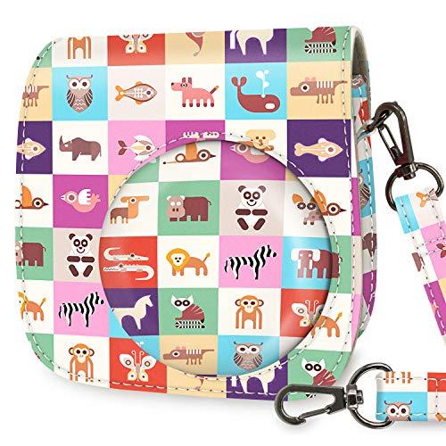 Wolven Protective Case Bag Purse Compatible with Fugifilm Mini 9, Mini 8, Mini 8+ Instand Camera, Animals Pattern