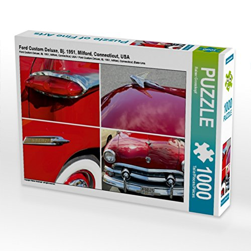 Ford Custom Deluxe, Bj. 1951, Milford, Connecticut, USA 1000 Teile Puzzle Quer