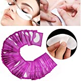 150 Pairs Set,Under Eye Pads, Lint Free Lash Extension Eye Gel Patches for Eyelash Extension Eye Mask Beauty Tool (Purple)