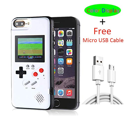 (iPhone X Case Game Console with Color Display, VOLMON iPhone X Gameboy Case with 36 Kinds 3D Retro Video Game, Unique Design Durable Case for iPhone X/Xs, 5.8 Inch)