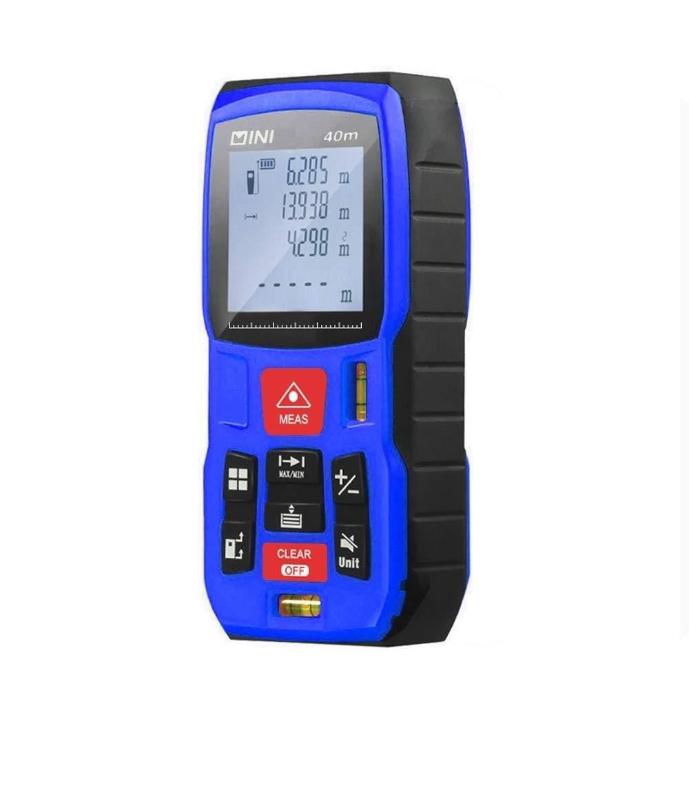 Mètre Laser Multifonctionnel - Fonctionne en Extérieur - Mesure Mètre Portée 40m - Télémètre Laser Ultra Haute Précision +/- 1.5 mm - Indice De Protection IP54 - Ecran LCD Rétro-éclair&e
