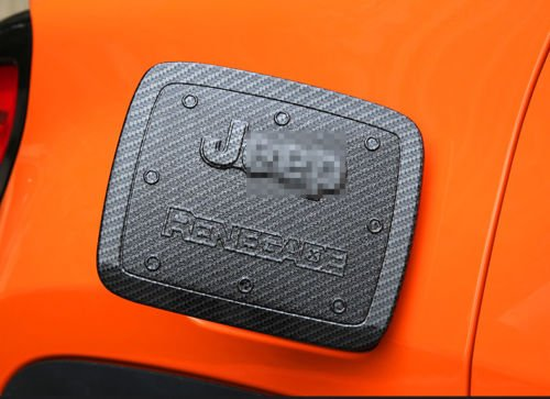 Nicebee ABS Carbon Fiber Fuel Tank Cover Gas Lid Filler Cap Trim Decoration fit For Jeep Renegade 2015-2017
